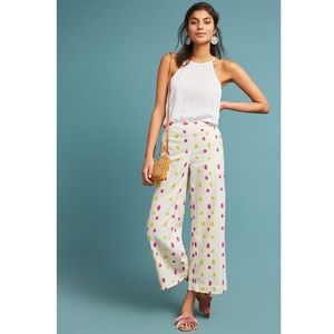 Anthropologie Clip Dot Trousers / Pants